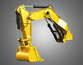 3D Excavator hydraulic arm and Bucket - 6015B