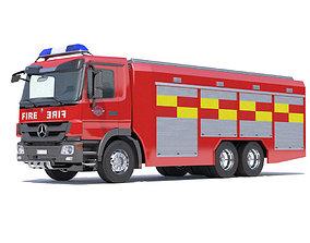 Mercedes Actros Fire Truck 3D