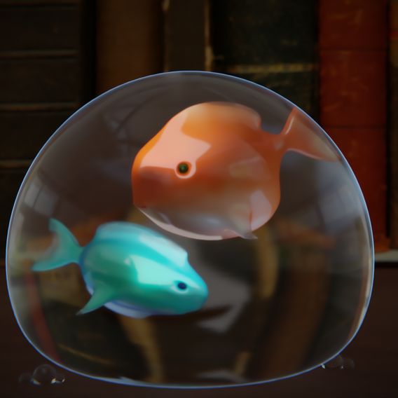Fishes in a bubble
