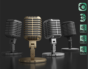 3D model animated Retro Microphone