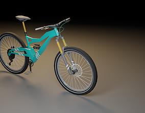 3D asset Full Suspension Mountain Bike - Low Poly