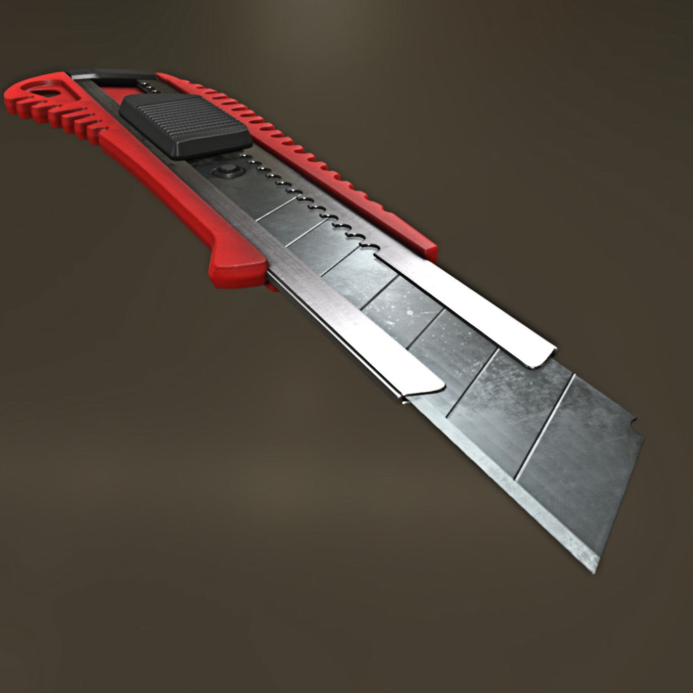 Box Cutter high and low-poly