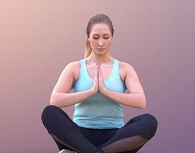 3D model VR / AR ready Rocio 10574 - Yoga Pose Girl