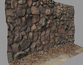 3D model VR / AR ready Stone wall