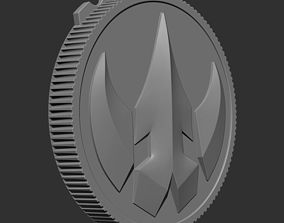 2 Power Ranger Legacy Lord DRAKKON Coin 3D print model 5