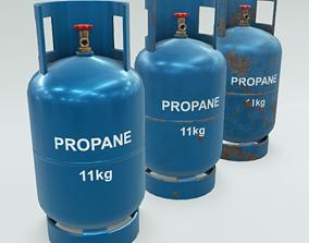 3D model 4K Low-Poly PBR Propane Gas Cylinder 11 kg - 3 1