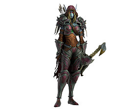 Warcraft Sylvanas Windrunner Animated and Rigged 3D asset