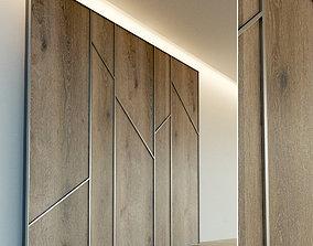 3D model Wooden wall panel 66