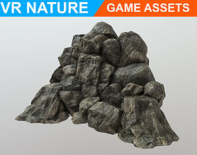 Low poly Realistic Cave Wall A5 180611 3D model
