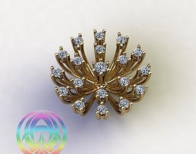 rings gear wheel ring diamond gold printable jewelry