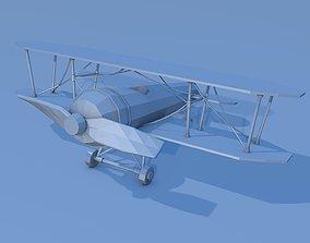 game-ready Lowpoly biplane 3D model