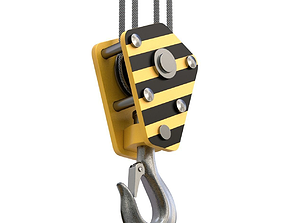 Crane Hook lifting crane 3D model