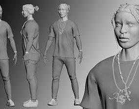 statue ASAP Rocky Model
