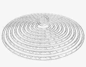 3D model Circle Triangular Truss Modular Collection 10 1