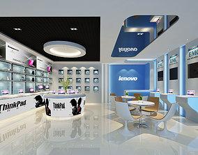 3D Lenovo Store Interior Scene
