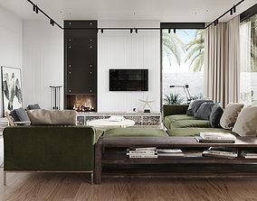 Interior design photoreal scene 3D model