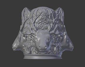 Deer Head Cigarette Holder 3D print model