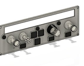 A320 FCU printable panel with knobs