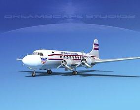 Douglas DC-4 Continental Airlines 3D model