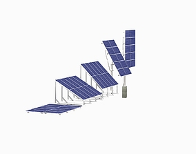 3D model All-In-One Adjustable Mounted Solar Module Array