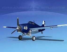 3D model Grumman F4F-3 Wildcat V19