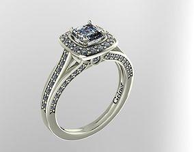 platinum 3D printable model Engagement Ring