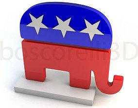 3D model Republican Party Elephant Symbol