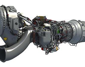 Europrop TP400-D6 Turboprop Engine 3D