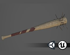 3D asset Apocalyptic Baseball Bat - PBR and Game