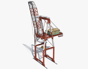 3D asset game-ready Port Container Crane