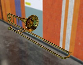 3D model Realistic Trombone
