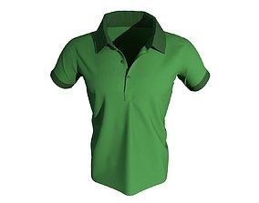 3 D Male Polo T-Shirt 3D model