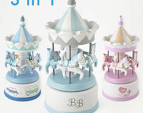 3D Musical carousel Amadeus set