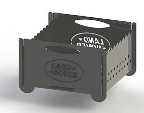 Grill with Land Rover logo 300x300 for 3D print model 1