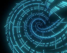 3D Sci fi Tower Neon Glow