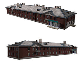 Residential building with shop 3D model