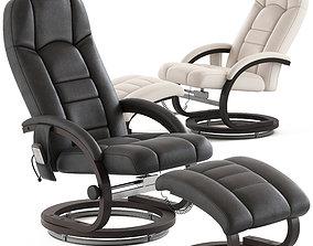 Essential Home Supply Malandi Massage Chair and Ottoman 3D