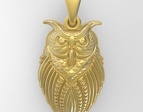 3D printable model Owl earrings and pendant