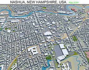 3D asset VR / AR ready Nashua New Hampshire USA 20km