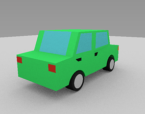 3D model low-poly Low Poly Car vehiclelowpoly