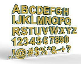 Letters 3d model number