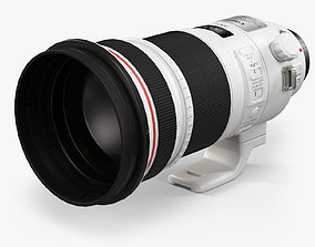Canon EF 300mm f 2-8L IS II USM Lens 3D model low-poly