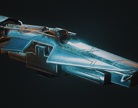 3D asset PBR Game-ready Spaceship