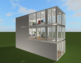 3D model Minimalist office space for startups