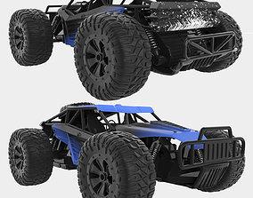 Remote Control Car Blue 3D model