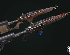 Tactical rifle M-14 3D asset