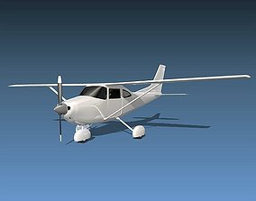 Cessna 182 skylane aircraft 3D model