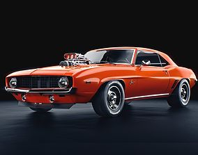 chevrolet camaro supercharged 1969 3D model