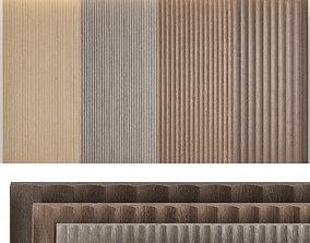 Wood panels set7 3D model