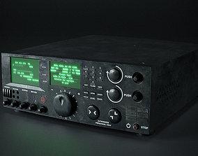 Radio with octane render scene 3D asset